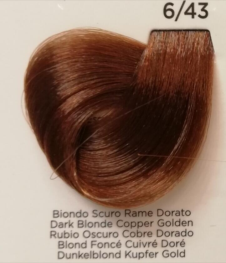 Inebrya Color 6 43 Biondo Scuro Rame Dorato E Shop Prodotti Per Parrucchieri